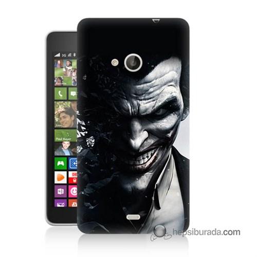 Teknomeg Nokia Lumia 535 Kılıf Kapak Joker Baskılı Silikon