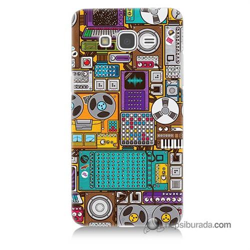 Teknomeg Samsung Galaxy Grand Prime Kılıf Kapak Teknoloji Baskılı Silikon