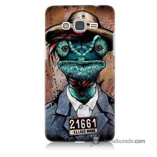 Teknomeg Samsung Galaxy Grand Prime Kılıf Kapak İguana Adam Baskılı Silikon