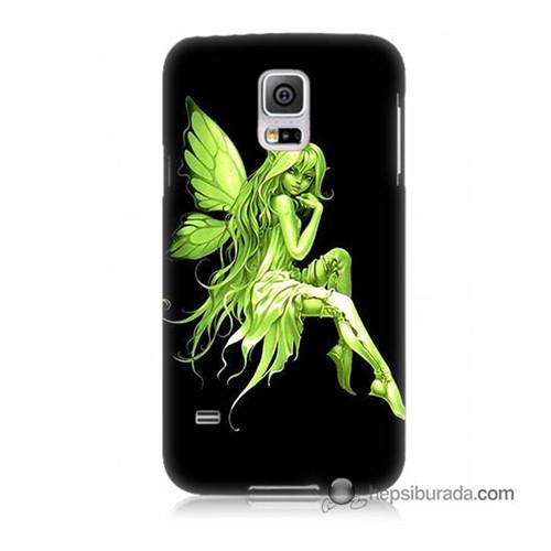 Teknomeg Samsung Galaxy S5 Kapak Kılıf Peri Kızı Baskılı Silikon