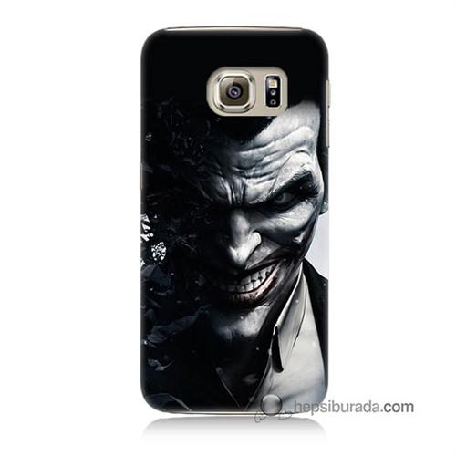 Teknomeg Samsung Galaxy S6 Kılıf Kapak Joker Baskılı Silikon