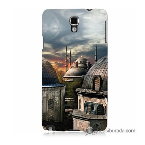Teknomeg Samsung Galaxy Note 3 Neo Kapak Kılıf Cami Baskılı Silikon