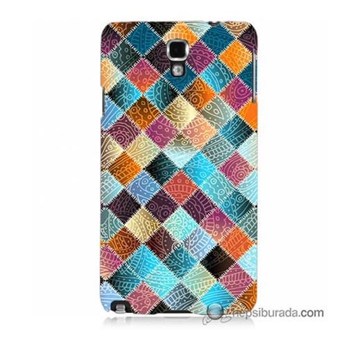 Teknomeg Samsung Galaxy Note 3 Neo Kılıf Kapak Kırkyama Baskılı Silikon