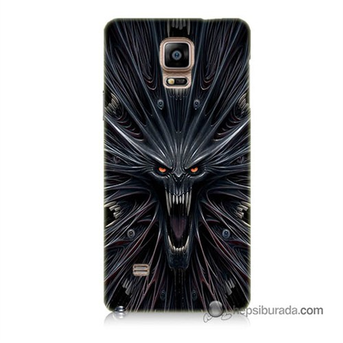 Teknomeg Samsung Galaxy Note 4 Kılıf Kapak Korku Canavarı Baskılı Silikon