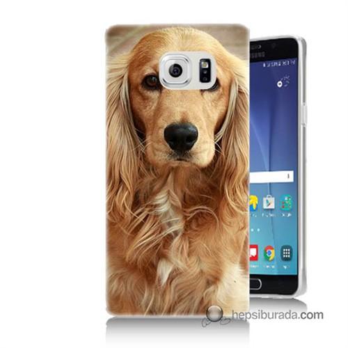Teknomeg Samsung Galaxy Note 5 Kapak Kılıf Köpek Baskılı Silikon