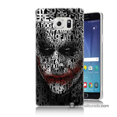 Teknomeg Samsung Galaxy Note 5 Kapak Kılıf Joker Baskılı Silikon