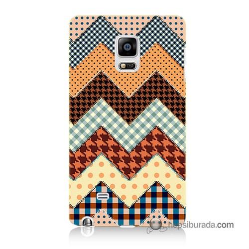 Teknomeg Samsung Galaxy Note Edge Kapak Kılıf Patchwork Baskılı Silikon