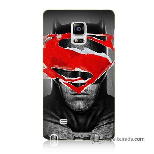 Teknomeg Samsung Galaxy Note Edge Kapak Kılıf Batman Vs Superman Baskılı Silikon