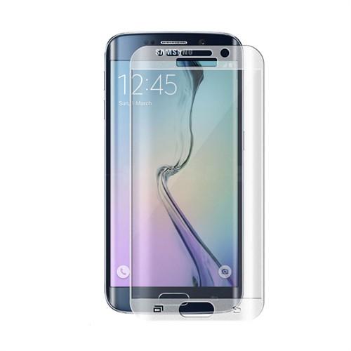 Teleplus Galaxy S6 Edge Cam Kavis Kısmı Dahil Full Koruma Şeffaf