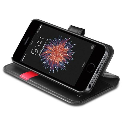 Spigen iPhone Se Spigen Wallet S Siyah Cüzdan