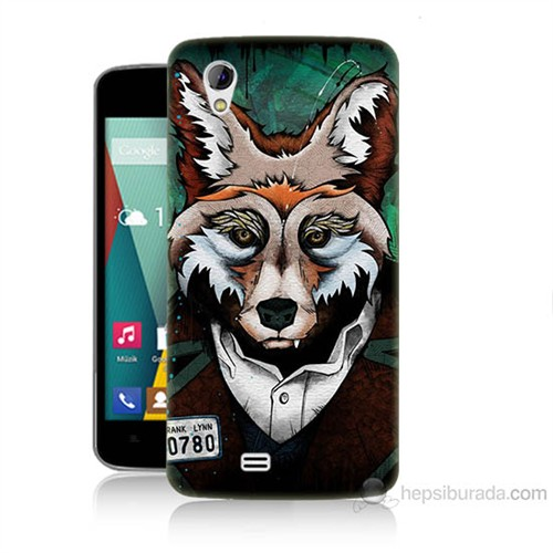 Teknomeg General Mobile Discovery 2 Mini Bad Wolf Baskılı Silikon Kılıf