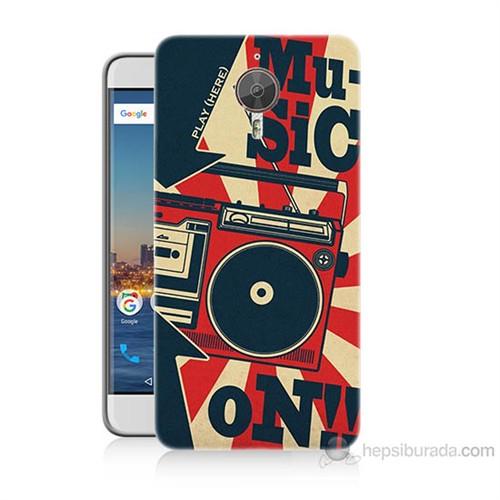 Teknomeg General Mobile Gm5 Plus Müzik Baskılı Silikon Kılıf