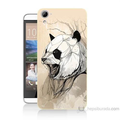 Teknomeg Htc Desire 826 Kavgacı Panda Baskılı Silikon Kılıf