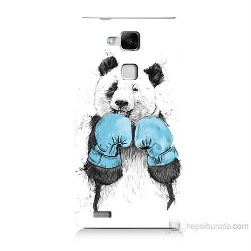 Teknomeg Huawei Ascend Mate 7 Boksör Panda Baskılı Silikon Kılıf