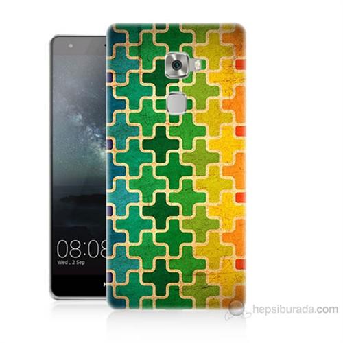 Teknomeg Huawei Ascend Mate S Renkli Artı Baskılı Silikon Kılıf