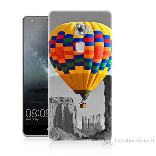 Teknomeg Huawei Ascend Mate S Renkli Uçan Balon Baskılı Silikon Kılıf