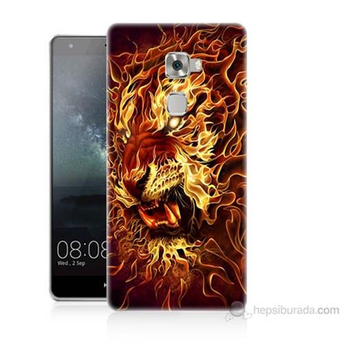 Teknomeg Huawei Ascend Mate S Ateşli Aslan Baskılı Silikon Kılıf