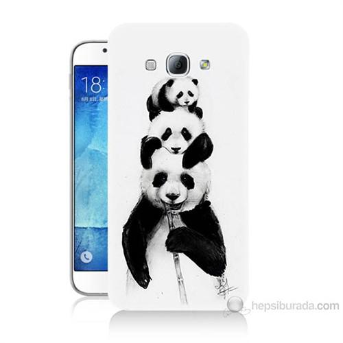 Teknomeg Samsung Galaxy A8 Panda Ailesi Baskılı Silikon Kılıf