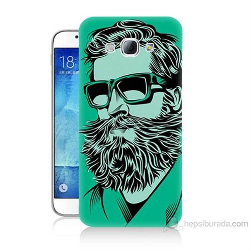 Teknomeg Samsung Galaxy A8 Beard Art Baskılı Silikon Kılıf
