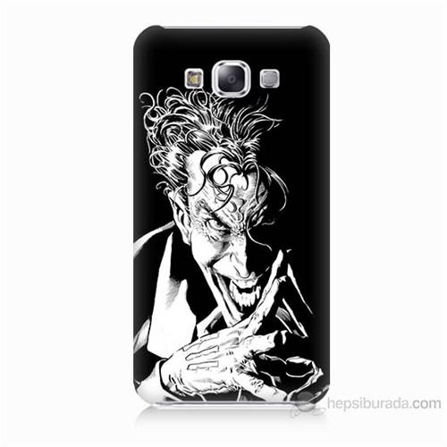 Teknomeg Samsung Galaxy E7 Gülen Joker Baskılı Silikon Kılıf