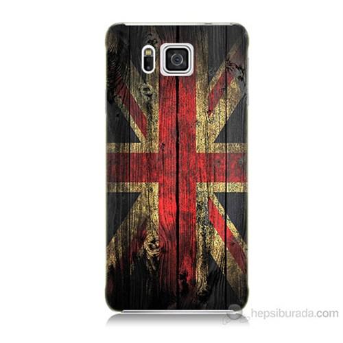 Teknomeg Samsung Galaxy Alpha G850 İngiliz Bayrağı Baskılı Silikon Kılıf