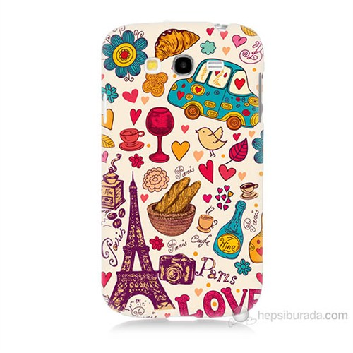 Teknomeg Samsung Galaxy Grand Duos İ9082 Paris Love Baskılı Silikon Kılıf