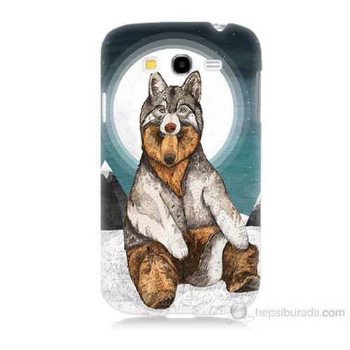 Teknomeg Samsung Galaxy Grand Duos İ9082 Postlu Ayı Baskılı Silikon Kılıf
