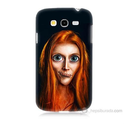 Teknomeg Samsung Galaxy Grand Duos İ9082 Zombie Kız Baskılı Silikon Kılıf