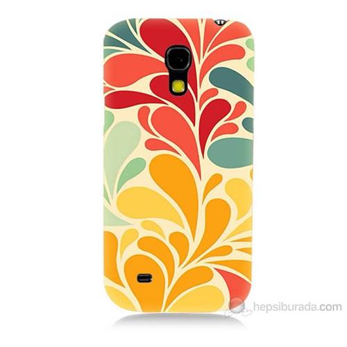 Teknomeg Samsung Galaxy S4 Mini Çiçekler Baskılı Silikon Kılıf
