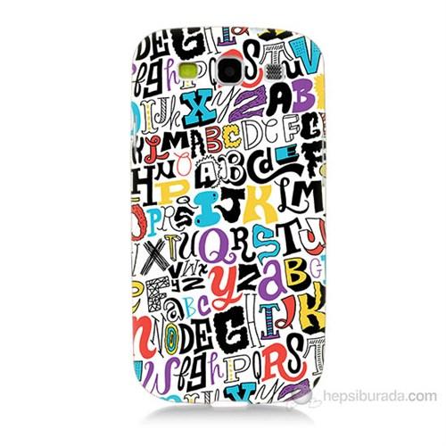 Teknomeg Samsung Galaxy S3 Renkli Harfler Baskılı Silikon Kılıf