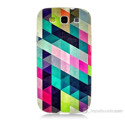 Teknomeg Samsung Galaxy S3 Mozaikler Baskılı Silikon Kılıf
