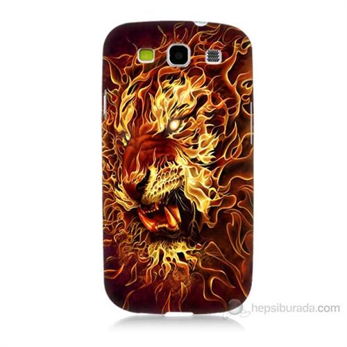Teknomeg Samsung Galaxy S3 Ateşli Aslan Baskılı Silikon Kılıf