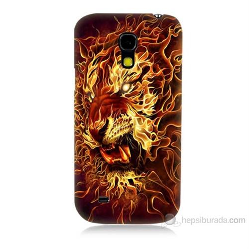 Teknomeg Samsung Galaxy S4 Mini Ateşli Aslan Baskılı Silikon Kılıf