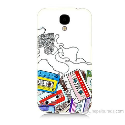 Teknomeg Samsung Galaxy S4 Kasetler Baskılı Silikon Kılıf