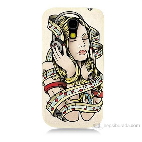 Teknomeg Samsung Galaxy S4 Mini Müzik Aşkı Baskılı Silikon Kılıf