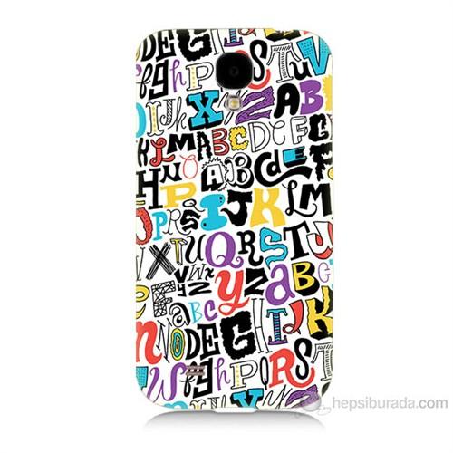Teknomeg Samsung Galaxy S4 Renkli Harfler Baskılı Silikon Kılıf