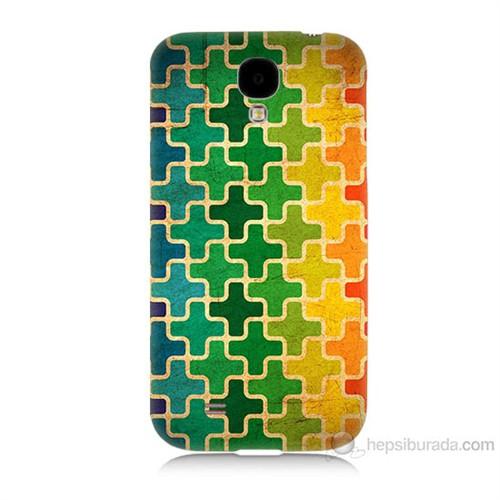 Teknomeg Samsung Galaxy S4 Renkli Artı Baskılı Silikon Kılıf