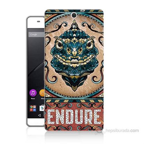 Teknomeg Sony Xperia C5 Endure Baskılı Silikon Kılıf