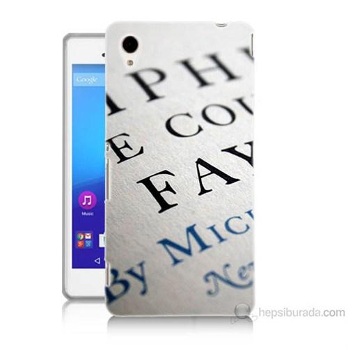 Teknomeg Sony Xperia M4 Yazılar Baskılı Silikon Kılıf