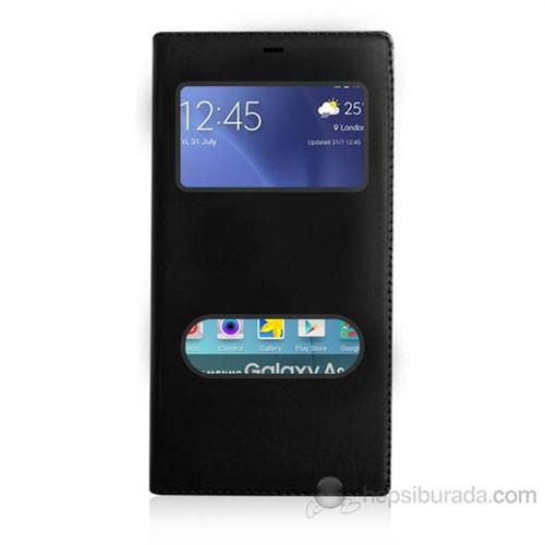 Teknomeg Samsung Galaxy A8 Siyah Pencere Ve Gizli Mıknatıslı