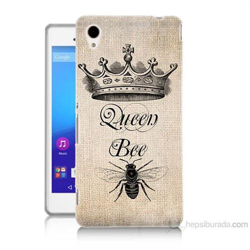 Teknomeg Sony Xperia M4 Aqua Queen Bee Baskılı Silikon Kılıf