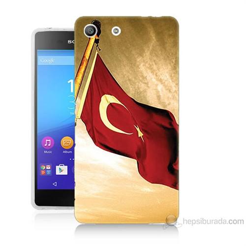 Teknomeg Sony Xperia M5 Türk Bayrağı Baskılı Silikon Kılıf