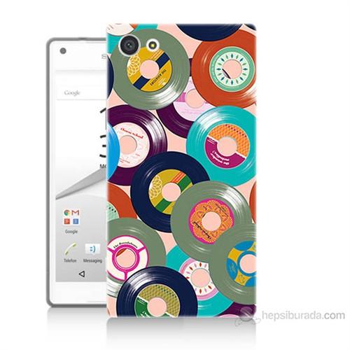 Teknomeg Sony Xperia Z5 Renkli Plaklar Baskılı Silikon Kılıf