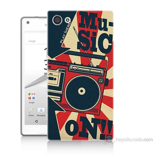 Teknomeg Sony Xperia Z5 Müzik Baskılı Silikon Kılıf