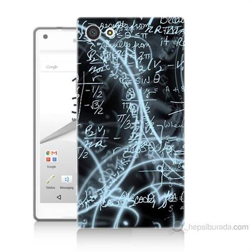 Teknomeg Sony Xperia Z5 Mini Matematik Baskılı Silikon Kılıf