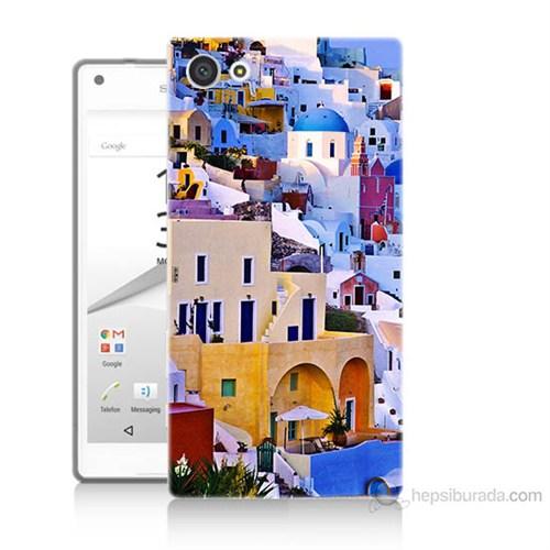 Teknomeg Sony Xperia Z5 Mini İbiza Baskılı Silikon Kılıf