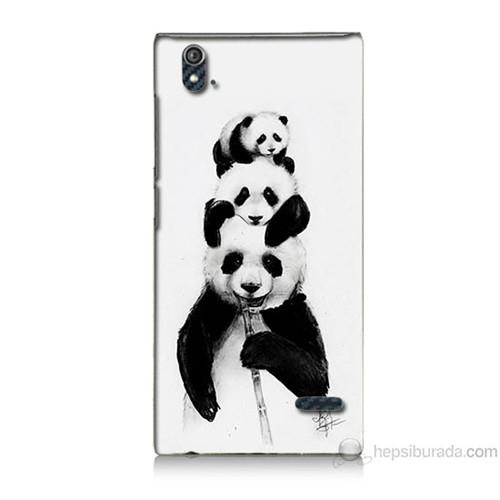 Teknomeg Turkcell T50 Panda Ailesi Baskılı Silikon Kılıf