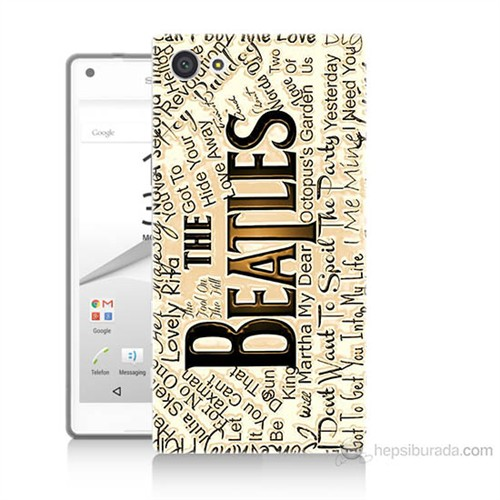 Teknomeg Sony Xperia Z5 Mini The Beatles Baskılı Silikon Kılıf