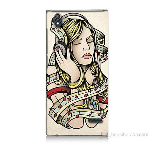 Teknomeg Turkcell T50 Müzik Aşkı Baskılı Silikon Kılıf