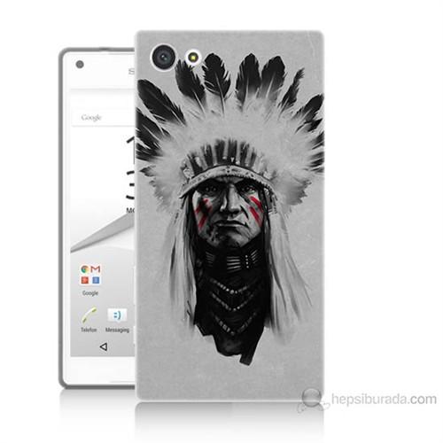Teknomeg Sony Xperia Z5 Mini Geronimo Baskılı Silikon Kılıf